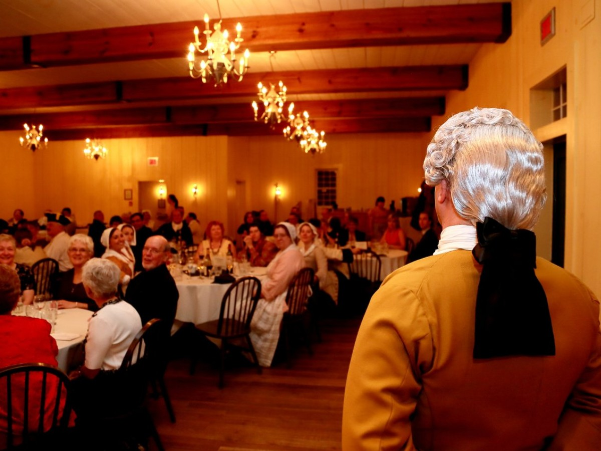 Add some character and comfort to your holiday party with Gibraltar Dining Corp - Just a 19th century gentleman overseeing dinner service at Fort Gibraltar (Fort Gibraltar Dining Co.)